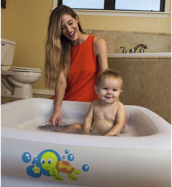 Baignoire gonflable carrée pour bébé Fluo 86 x 86 x 25 cm – Bestway